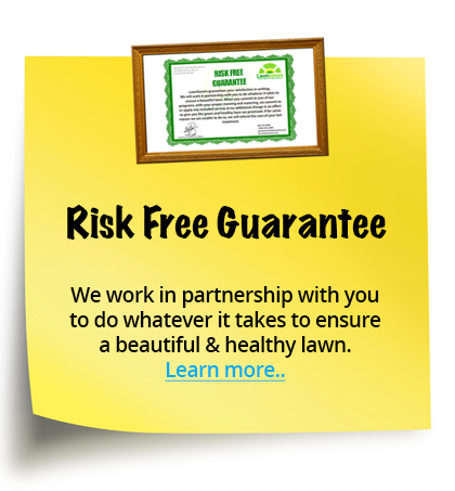 Risk Free Guarantee - We work in partnership with you to do whatever it takes to ensure a beautiful & healthy lawn.