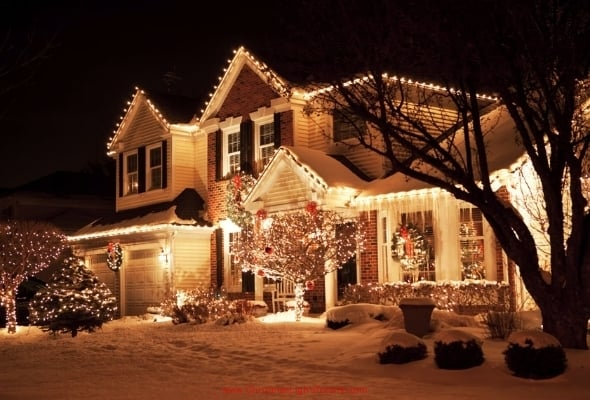 planning on spending hours climbing rickety old ladders and untangling bundles of wire to hang your christmas lights this year - Outdoor Christmas Light Decorators
