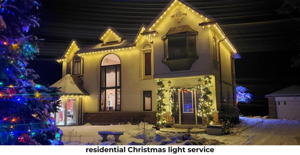 award-winning residential Christmas light service