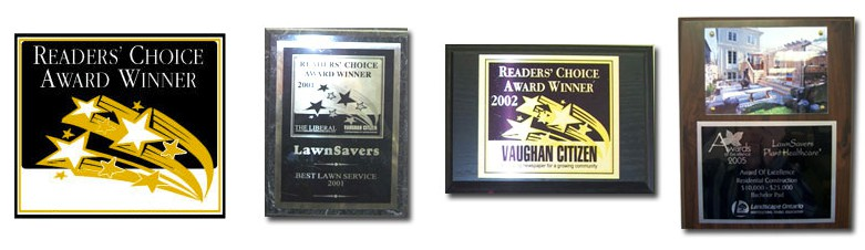 LawnSavers Readers Choice Awards for Best Lawn Care company in GTA