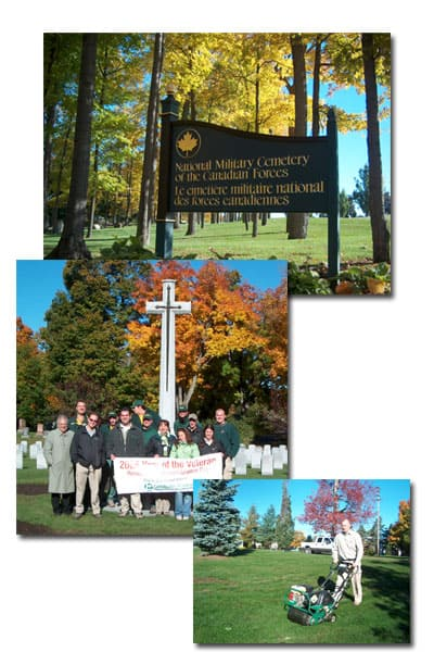 LawnSavers supports the National Military Cemetery of the Canadian Forces