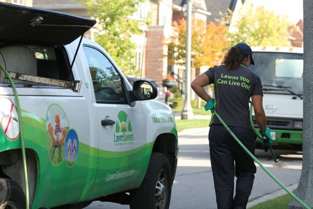 etobicoke lawn care lawnsavers weed control